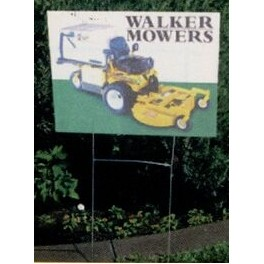 Full Color Corrugated Plastic Yard Sign (24