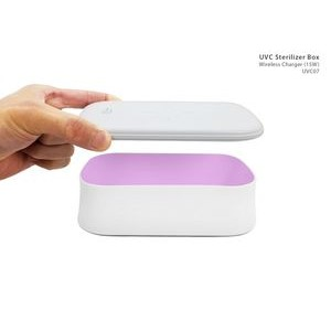 UV Sanitizing Box With Qi Wireless Charger (15W)